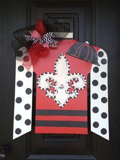 Kentucky derby jockey silk door hanger/wreath by shutthefrontdoor2