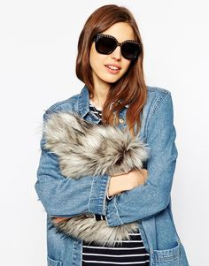 ASOS Oversized Sunglasses With Etched Top