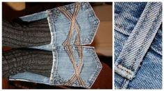 How to Make Denim House Slippers - DIY - AllDayChic