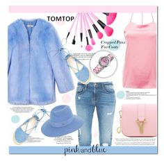 """""""TOMTOP"""" by jenny007-281 ❤ liked on Polyvore featuring THP, Whiteley, Frame Denim, Steve Madden, Maison Michel, women's clothing, women's fashion, women, female and woman"""