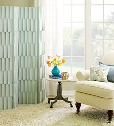 Functional & Fabulous Folding Screens (Use a screen to hide a vacuum cleaner that won't fit in a closet!)