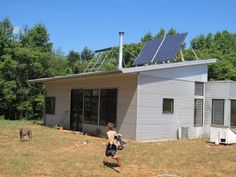 Passive Solar Prefab Home Adjusts For Seasons, Off Grid Appliances, And An Ugly Garden