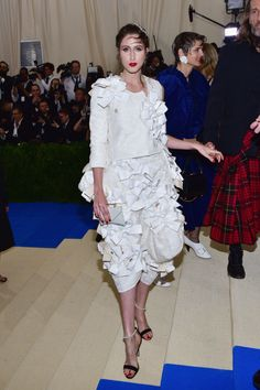 Anna Cleveland and Everyone Who Actually Wore Comme des Garcons to the 2017 Met Gala Photos | W Magazine
