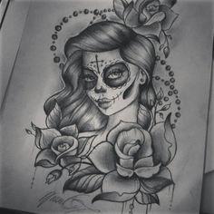 santa muerte tattoo - Cerca con Google