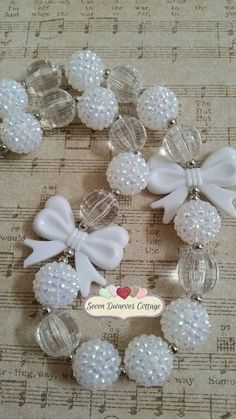 White classy and chic bubblegum bead necklace   Hey, I found this really awesome Etsy listing at https://www.etsy.com/listing/220324940/simply-chic-and-classy-big-white-bows