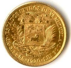 Un Pachano de Oro,el equivalente a la Morocota norteamericana en monedas de dollar de oro.