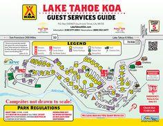 South Lake Tahoe California Campground Lake Tahoe KOA Family - California koa map