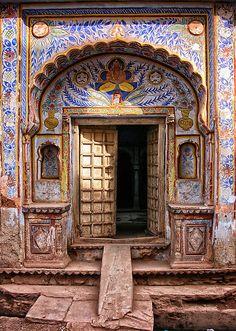 """Rajasthani Door"" by lamiel"