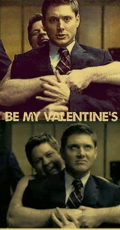 Be My Valentine (asks the awkward, naked Cupid) #Supernatural