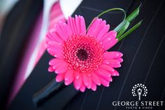 Pink Boutonniere #DREAMWEDDING I love this, but I would change it to purple!