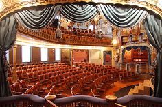Victorian-era, 313-seat community theater -- Mabel Tainter Theater, Menomonie, WI.   [2nd of four pins]