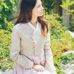 SILKHOUSE Korean Traditional hanbok top SHORT JEOGORI GREEN + Free Shipp #SILKHOUSE #top