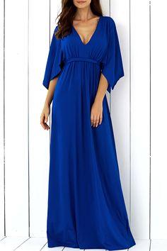 $17.80 Batwing Sleeve Tied Maxi Dress