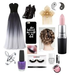 """Prom"" by jayde-brooks ❤ liked on Polyvore featuring Miriam Haskell, Sydney Evan, Bling Jewelry, Too Faced Cosmetics, MAC Cosmetics, OPI, Morphe, Nails Inc., Trish McEvoy and Bourjois"