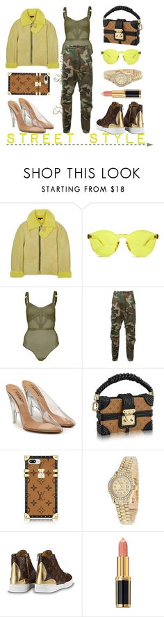 """""""Street Style"""" by adswil ❤ liked on Polyvore featuring RumbaTime, Topshop, R13, Yeezy by Kanye West, Rolex, Louis Vuitton and Balmain"""