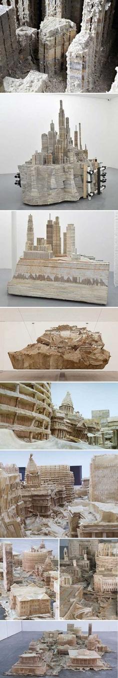 削りだされた、都市彫刻「Cityscape Installations」