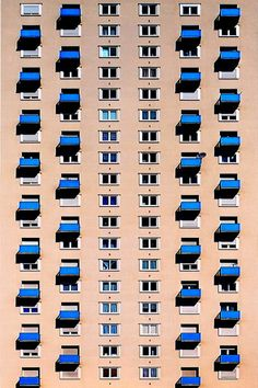Windows on a building - by Kala___, via Flickr #photography #architecture