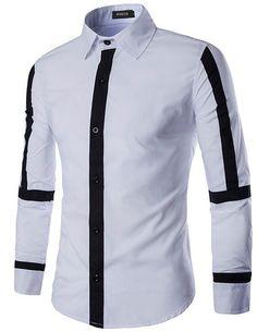 X-Future Mens Button Down Leopard Print Casual Long Sleeve Business Dress Shirt Top