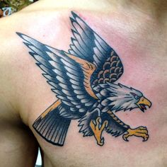 50 Inspiring  Eagle Tattoo Designs and  Meaning - Spread Your Wings Check more at http://tattoo-journal.com/45-inspiring-eagle-tattoos/