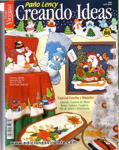 Revistas navideñas gratis 2014 Book Crafts, Hobbies And Crafts, Crafts To Make, Crafts For Kids, Christmas Books, Christmas Crafts, Christmas Holidays, Christmas Trees, Painted Books