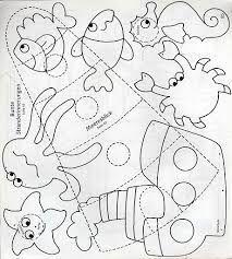 moldes de animais do fundo do mar - Pesquisa Google