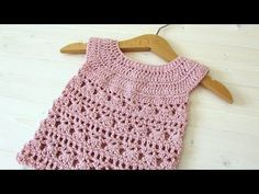 How to crochet an EASY lace baby dress - YouTube