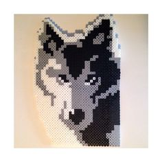 Wolf perler beads by kg.crafts