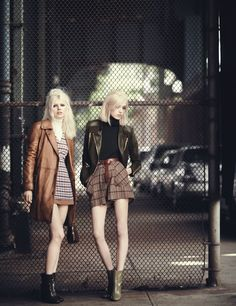 visual optimism; fashion editorials, shows, campaigns & more!: new york dolls: ola rudnicka and esmeralda seay reynolds by boo george for w september 2014