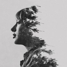 double-4.  Double Exposure portraits by Sarah K Byrne.