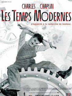 Les Temps modernes est un film de Charles Chaplin avec Charles Chaplin, Paulette Goddard. Synopsis : Charlot est ouvrier dans une gigantesque usine. Il resserre quotidiennement des boulons. Mais les machines, le travail à la chaîne le rendent malade,