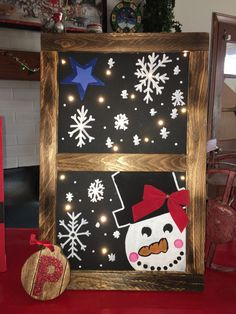 Christmas Snowman, Christmas Stuff, Snowman Decorations, Light Up, Advent Calendar, Things To Sell, Holiday Decor, Crafts, Home Decor