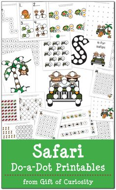 Take a journey to the African continent with this FREE pack of Safari Do-a-Dot Printables featuring 18 pages of learning activities for kids ages Animal Activities, Kids Learning Activities, Physical Activities, Safari Theme, Jungle Theme, Preschool Printables, Free Printables, Preschool Ideas, Preschool Jungle