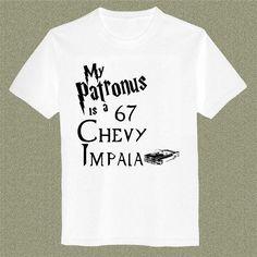 Supernatural Harry Potter T-shirt Mens And Womens Cotton Screenprint size S - 3XL