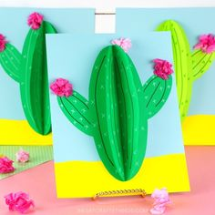 Paper Cactus Craft - I Heart Crafty Things Ocean Animal Crafts, Whale Crafts, Boat Crafts, Turtle Crafts, Animal Crafts For Kids, Fish Crafts, Summer Crafts For Kids, Spring Crafts, Paper Cactus