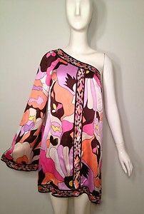 Pretty Vacation Summer Dress! 100% Silk One-Shoulder Bell Sleeve Bebe Dress! $59
