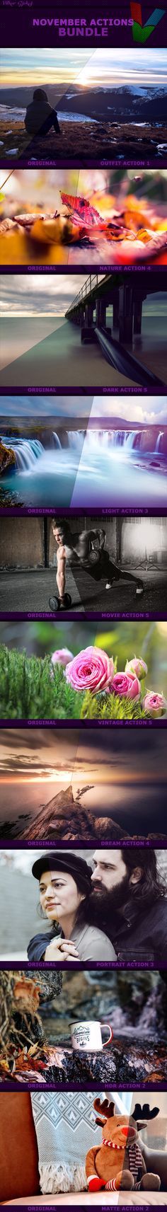 November Photoshop Actions Bundle actions bundle, colors, contrast filters, dark light, dream, fashion style, fit model, graphic art, graphic design, hot girl, hot model, nature, outfit, people portrait, photography, resources, September Photoshop, six pack, stock images, web design
