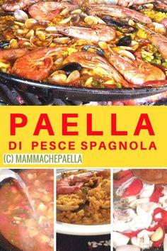 #Paella di #pesce #spagnola #originale - la #ricetta della mia #famiglia #soup #soup #originale Quinoa, Risotto, Food And Drink, Soup, Beef, Fish, Cooking, Collage, Diets