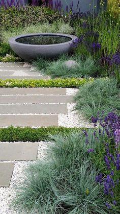 Fantastic Little Garden Design Ideas 23 - . Fantastic Little Garden Design Ideas 23 - . Modern Garden Design, Landscape Design, Modern Japanese Garden, Modern Pond, Back Garden Design, Back Gardens, Outdoor Gardens, Ponds For Small Gardens, Courtyard Gardens