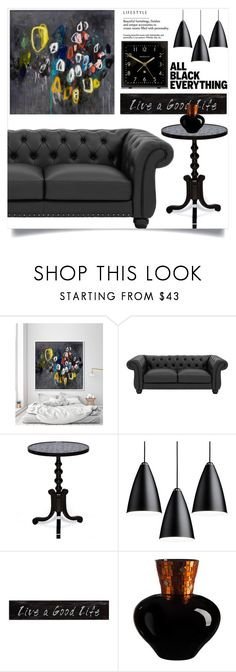 """Monochrome: All Black Everything"" by samra-bv ❤ liked on Polyvore featuring 3R Studios, Newgate, bedroom and modern"