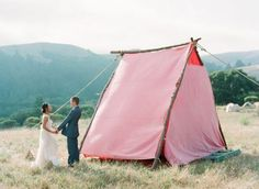 giant pink tent for your wedding night - teepee Field Wedding, Camp Wedding, Tent Wedding, Wedding Night, Wedding Bells, Wedding Reception, Wedding Dresses, Beauty And More, Glamping Weddings