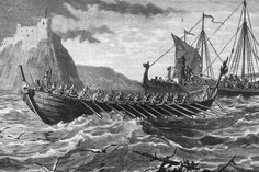 c900 AD, Viking ships invading England. (Photo by Hulton Archive/Getty Images) Paul Revere, Viking Warrior, Viking Age, Alfred The Great, Viking Culture, Archaeological Discoveries, Medieval World, Viking Ship, Animal Bones