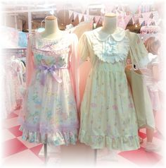 Cute pastel clothes and acessories.