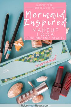 organic makeup Who doesn't love the idea of being a mermaid? Check out this fun mermaid makeup look using bold colors in greens, corals, and teal! Mermaid Makeup Looks, Mermaid Makeup Tutorial, Organic Makeup, Organic Beauty, Natural Beauty, Gluten Free Makeup, Personal Beauty Routine, Palette Organizer, Non Toxic Makeup