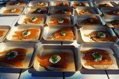 The 5 best things I ate at Taste of London Winter; Hansen & Ledersen smoked salmon #festivetaste