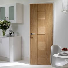 Door Set Kit, Messina Oak Flush Door. #moderndoorset #flushdoorset #oakdoorsetkit