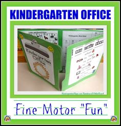 "Kindergarten ""Office' for Fine Motor Fun via RainbowsWithinReach"