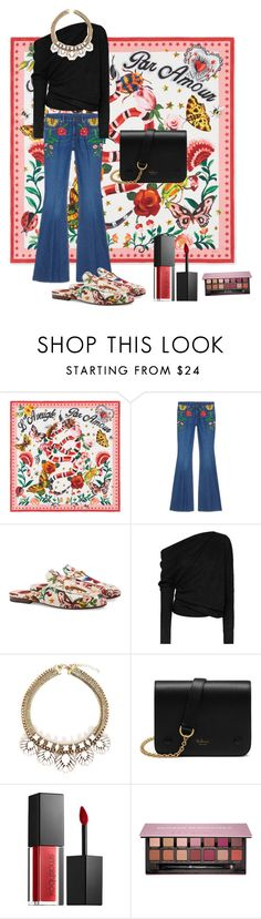 """""""Presenting the Gucci Garden Exclusive Collection: Contest Entry"""" by thewonderways ❤ liked on Polyvore featuring Gucci, Tom Ford, Mulberry, Smashbox, Anastasia Beverly Hills and gucci"""
