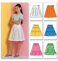 Girls' Skirt Alternate pattern for Item white eyelet skirt. Sewing Patterns Girls, Girls Skirt Patterns, Skirt Patterns Sewing, Clothing Patterns, Skirt Sewing, Little Girl Dresses, Girls Dresses, White Eyelet Skirt, Handmade Clothes