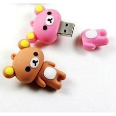 New Cute Pink Rilakkuma Bear Style USB flash drive. So kawaii ! Rilakkuma, All Things Cute, Cool Things To Buy, Gadgets, Usb Stick, Cute Stationary, Cute School Supplies, Kawaii Stationery, Kawaii Cute