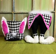 Easter Bunny Rabbit Mad Hatter Top Hat